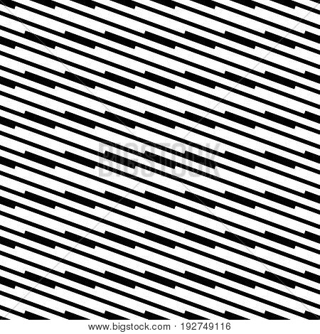 Black And White Seamless Geometric Pattern. Repeatable Texture / Background With Array, Structure Of