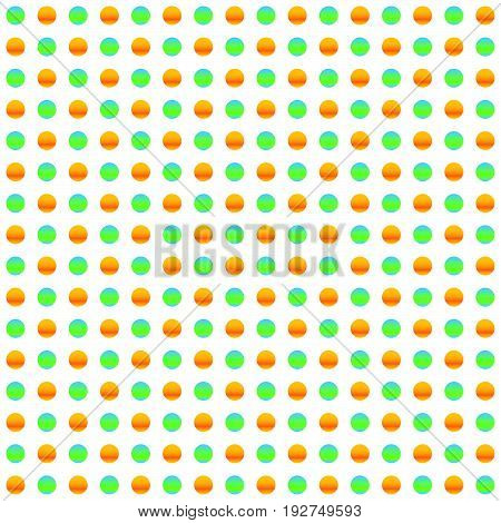 Repeatable Circles, Dots Pattern. Colorful / Multicolor Texture With Circles. Duotone (tricolor) Pol
