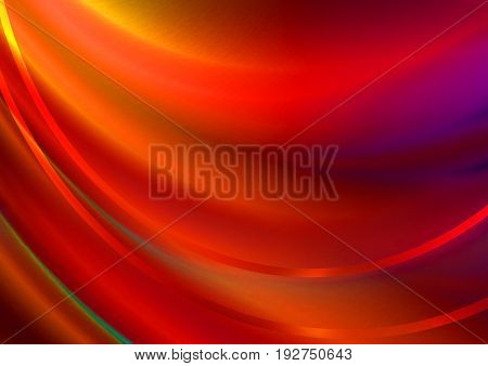 Abstract red wavy background covered wavy satin red stripes