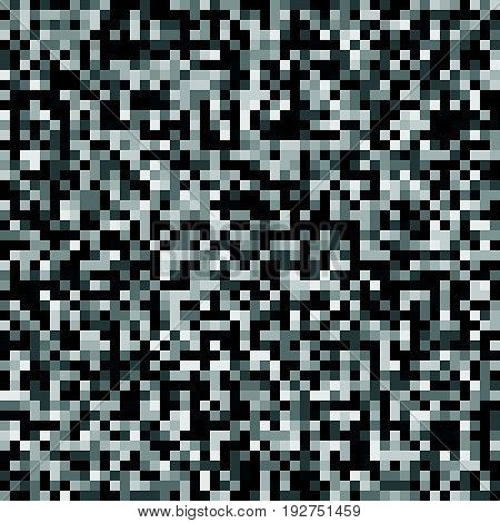 Minimal Seamless Pixelated Mosaic Pattern With Random Pixels. Repeatble Low Resolution, Retro Textur