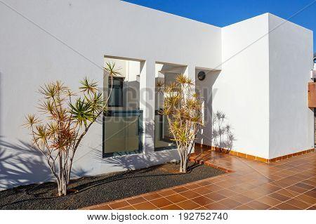 Playa Blanca, Lanzarote, April 03, 2017: Buildings And Area Hotel In Playa Blanca, Lanzarote