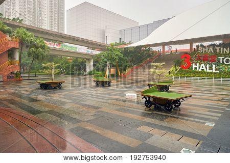 HONG KONG - CIRCA SEPTEMBER, 2016: Hong Kong urban landscape. Hong Kong is an autonomous territory on the Pearl River Delta of East Asia.