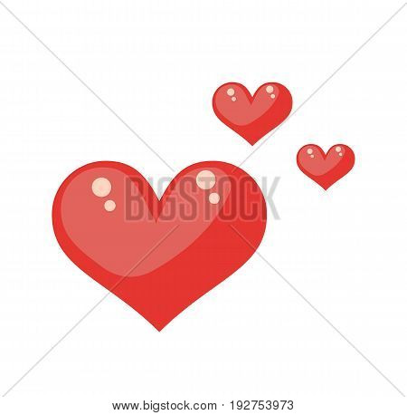 Heart illustration. Heart icon symbol isolated on white background. Vector stock.