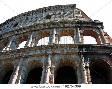 The Colosseum, Rome, Italy (isolated fragment of the wall)