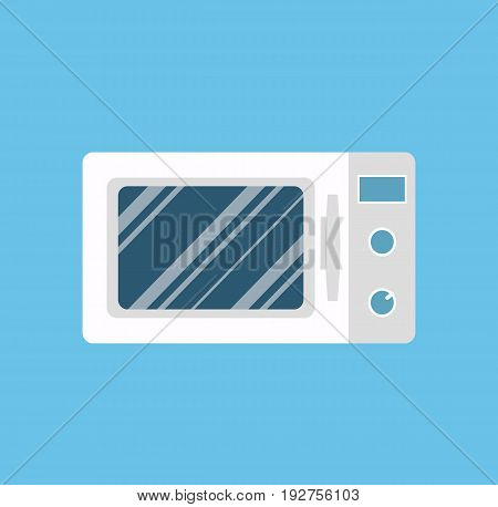 Microwave oven. Microwave isolated in flat style. Vector stock.