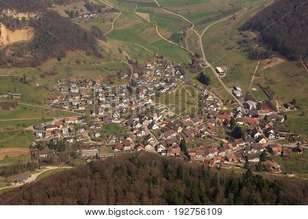 Rothenfluh Canton Basel-landschaft Switzerland Aerial View Photography