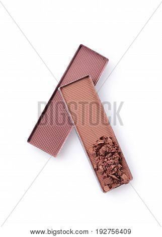Brown Crushed Eyeshadow For Make Up As Sample Of Cosmetic Product