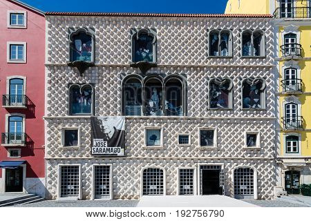 Lisbon, Portugal - May 17, 2017: Casa Dos Bicos Historic House From The Beginning Of The 16Th Centur