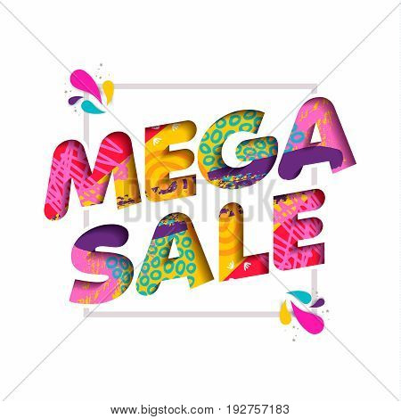 Mega Sale Color Quote Text For Big Discount Offer