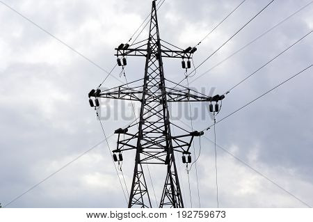 Electric network, high voltage, high voltage pole