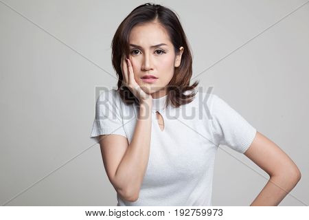 Young Asian Woman Got Toothache.