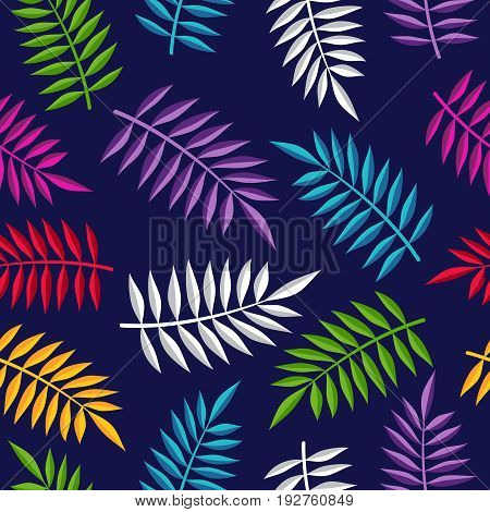 Tropical Summer Jungle Plant Color Background Art
