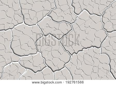 Cracked Plaster Seamless Pattern