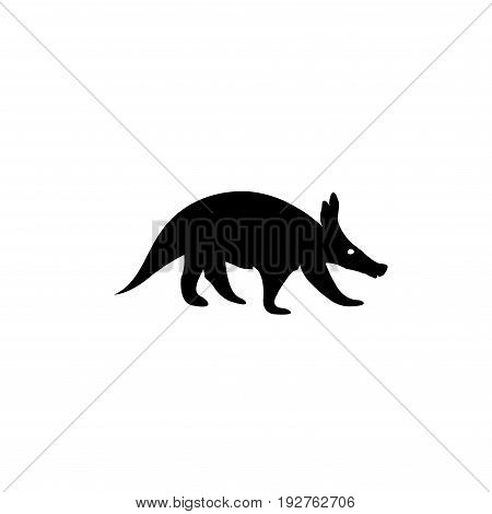 Detailed and isolated illustration of the mammal aardvark vector Eps8,Eps10