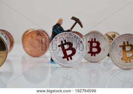 Silver Bitcoin Coin Mining