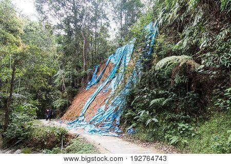 Soil Erosion At Tropical Hilly Terrain Due To Rain Storm.