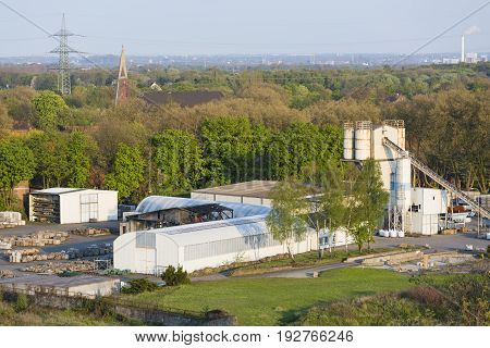 Concrete Factory In Duisburg, Germany