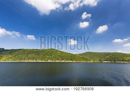 Hill Around Rursee In Summer, Germany