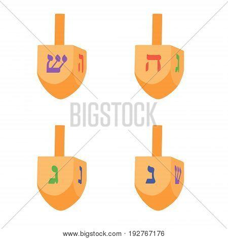 Hanukkah Dreidel Vector