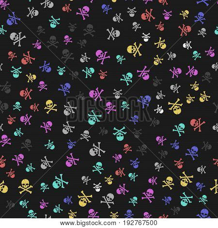 Skull And Crossbones Seamless Pattern