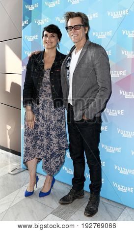 NEW YORK-MAY 21: Kevin Bacon (L) and Hollywood Editor New York Magazine & Vulture Stacey Wilson Hunt attend 'One Degree From Kevin Bacon' at The Standard High Line on May 21, 2017 in New York City.