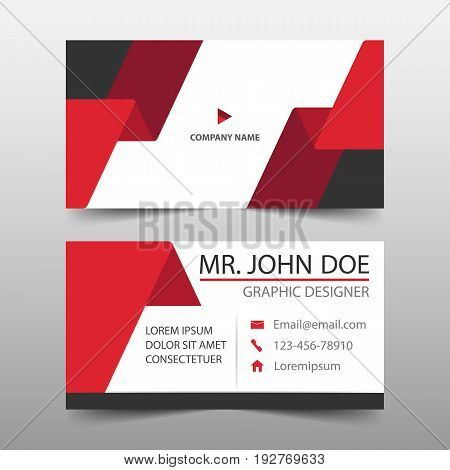Red label corporate business card name card template horizontal simple clean layout design template Business banner template for website