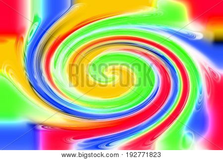 Abstract Color Twirl Background