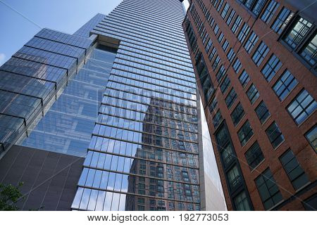 View of skyscrappers form the NYC Highline