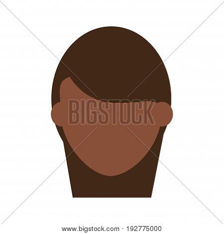 head of faceless dark skin woman icon image vector illustration design