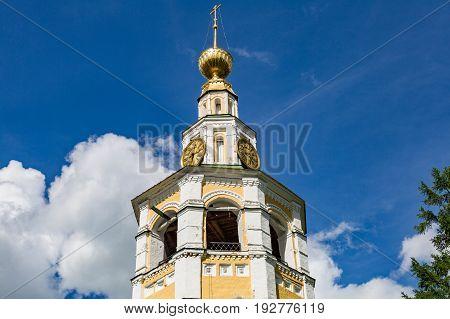 The 18Th Century Kremlin Belfry In Uglich, Russia