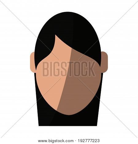 head of faceless woman icon image vector illustration design