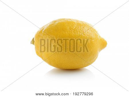 Fresh ripe lemon on white background