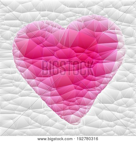 White quilted fabric with an embroidered pink heart.