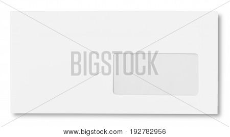 White blank envelope envelop business card letter head background