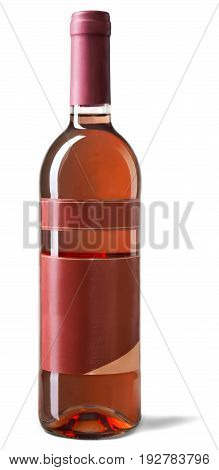 Isolated pink wine bottle wine cellar bar red