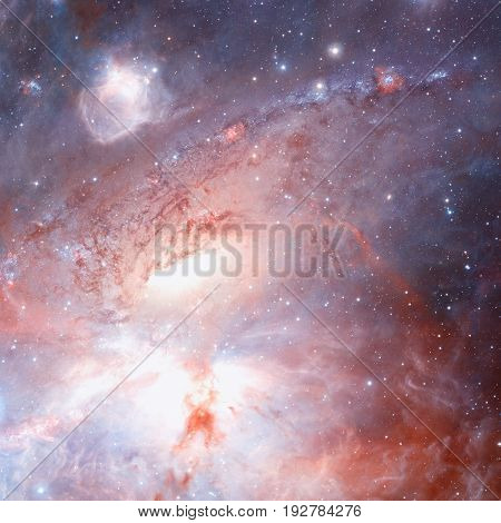 Star Field And Nebula In Outer Space