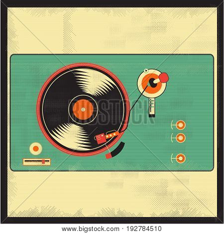 Vinyl vintage player  vector for your ideas