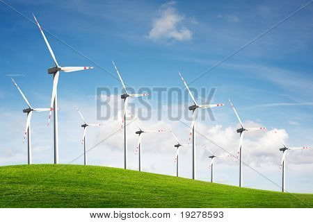 Wind turbines. Energy.