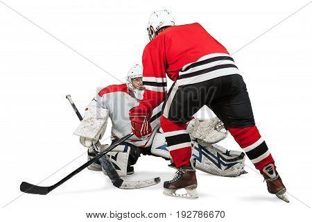 Male ice hockey helmets players ice hockey young adults