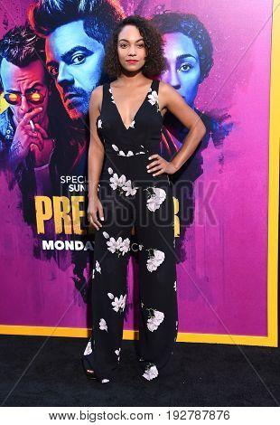 LOS ANGELES - JUN 20:  Lyndie Greenwood arrives for the AMC Season Two 'Preacher' Premiere Screening on June 20, 2017 in Los Angeles, CA