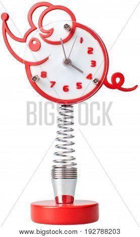 Retro clock alarm table background number empty
