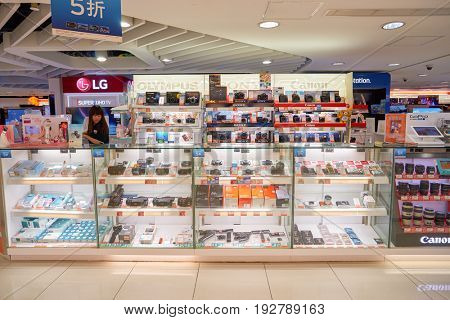 HONG KONG - CIRCA SEPTEMBER, 2016: an electronic store at a shopping center in Hong Kong.