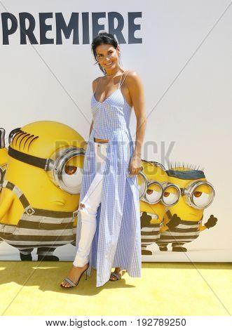 Angie Harmon at the World premiere of 'Despicable Me 3' held at the Shrine Auditorium in Los Angeles, USA on June 24, 2017.