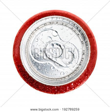 Isolated can cola coca ice cold red white