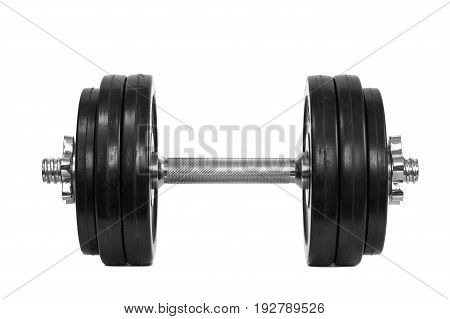 Dumbbells isolated on a white background. Fitness and bodybuilding concept.