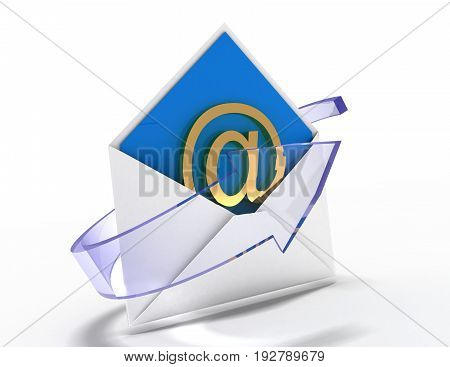 email concept . message concept  . 3d rendered illustration