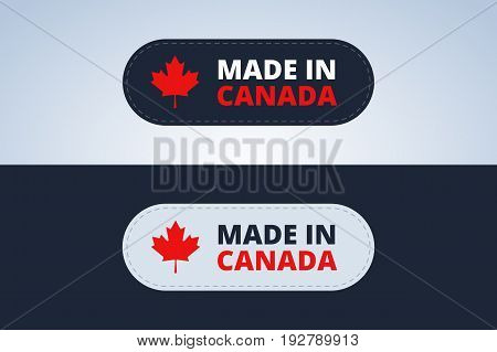 Made in Canada badge, stamp for Canada products. Vector illustration.