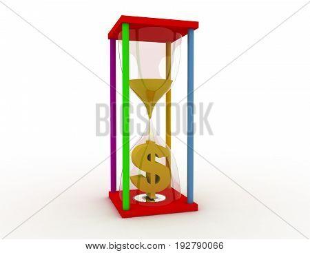 time is money concept . 3d rendered illustration