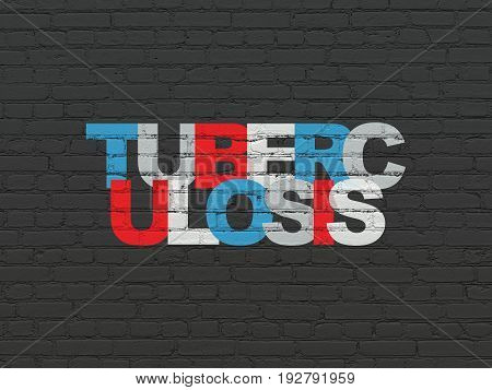 Medicine concept: Painted multicolor text Tuberculosis on Black Brick wall background