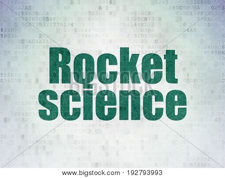 Science concept: Painted green word Rocket Science on Digital Data Paper background